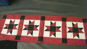 Hand made Christmas Quilted Runner...New