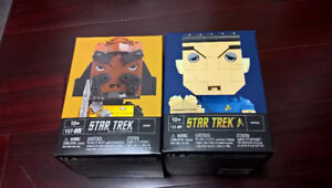 2 KUBROS Star Trek Spock and Worf. New in Box!