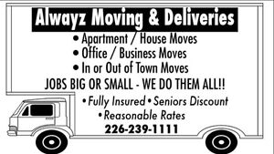 ALWAYZ MOVING & DELIVERIES London Ontario image 3
