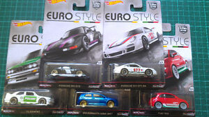 Hot Wheels Euro Style Car Culture set of 5