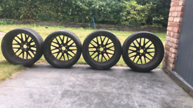 """19 """" alloy wheels and tyres"""