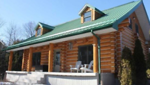 Get The Value Of Your Log Home (Strip, Stain & Chink)