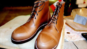 Customized Byron Boots. 100% American handmade. Size 8, 42