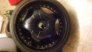 24inch rims.tires are 90%(trade for car or $