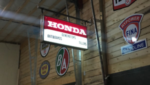Vintage Honda Sign, Esso Sign, BF Goodrich Sign