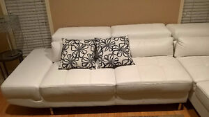WHITE LEATHER COUCH SET!! perfect condition!!