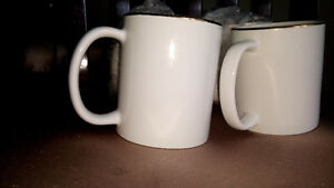 Golden rim white coffee mugs Edmonton Edmonton Area image 3