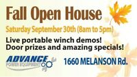 Advance Power Equipment Open House Sat. Sept. 30th