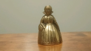 Brass Bell Lady Woman Girl Female Victorian English