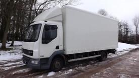 2012 DAF LF Truck 45.160 7.5 tonne Box with 1 tonne tuck under Tail lift,