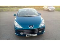 2008 Peugeot 307 CC 2.0HDi 136bhp Coupe 2 Convertible Sport Turbo Diesel Blue