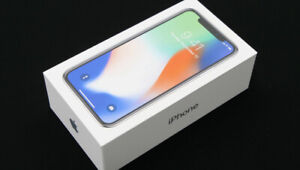 Iphone X 64 GB Silver MINT Box
