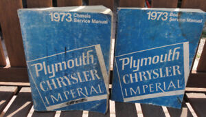 1973 Chrysler Plymouth Chassis and Body Service manuals.