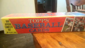 unopened 1988 factory sealed box of topps baseball cards