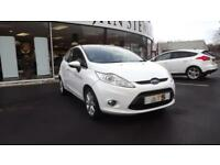 Ford Fiesta 1.25 Low Mileage 67000Mls. 2009, Zetec White Glasgow Scotland
