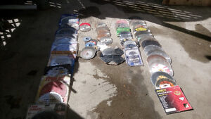 Many Types Of Saw Blades, New And Used