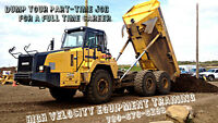 Interested in Heavy Equipment ? Come get certified with us !