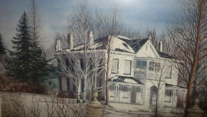 "Toronto Artist Roxann Vivian Smith ""The White House"" Watercolor Stratford Kitchener Area image 4"