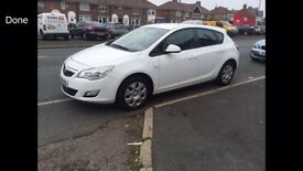 2010 10reg Vauxhall Astra Exclusiv 1.4 Petrol White 5 Door New Shape