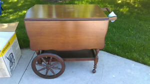 Antique Wooden Tea Cart