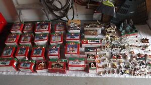 A lot of Christmas decorations