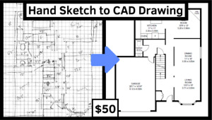 Converting Your Hand Sketches into 2D CAD Floor Plans