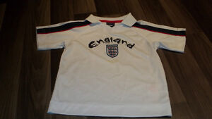 Authentic England Soccer Jersey 4T/5T