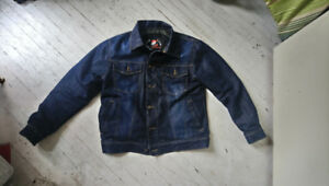 Denim Motorcycle Jacket Kevlar Lined with Armour