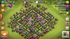 Clash of clans lvl 9 base and boom beach hq 16