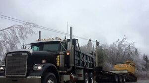 Floating,trailering heavy equipment and also scrap and cargo