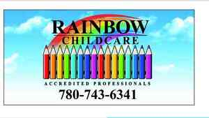 CHILD CARE SPACE AVAILABLE - RAINBOW CHILD CARE