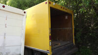 1999 Ford F-350 Super Duty Yellow Cube Van Box Only
