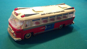 vintage 1960s tin litho bus