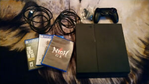 PS4 500Gb w/ 3 games, controller, and original headset