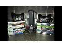 Xbox360 with upgraded HDD, 19 games, 2 wireless controllers, headset, cables etc £100 ono