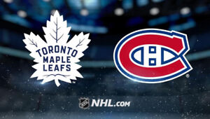 TORONTO MAPLE LEAFS VS MONTREAL CANADIENS HOME OPENER TICKETS!!