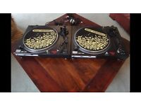 Pair of omnitronic direct drive turntables