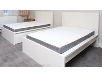 BARELY USED MALM SINGLE BEDS - MATRESSES INCLUDED - 1 FOR £200, 2 FOR £350 O.N.O