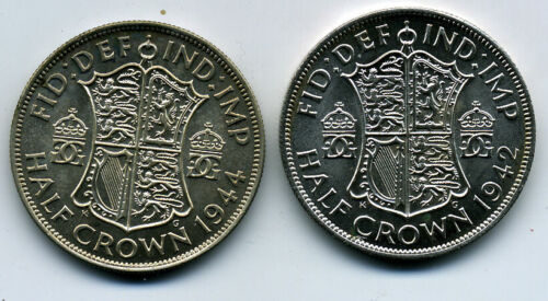 GREAT BRITAIN 1942 & 1944 FLORIN BU
