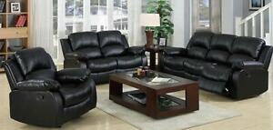 3 PIECE BLACK BONDED LEATHER LIVING ROOM SET AND MORE ON SALE@SOURCE LIQUIDATIONS, DIXIE/401 FLEA MARKET!