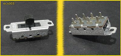 1pc Switchcraft Slide Switch 2-pole 3-position. Nos Ecs003