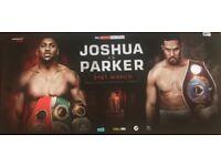 2 x Anthony Joshua v Joseph Parker tickets