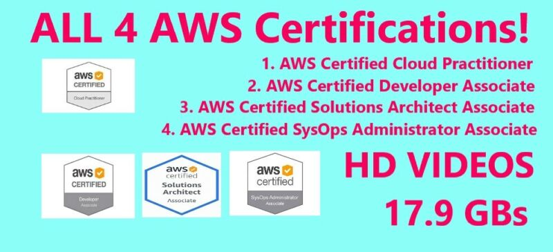 ALL four AWS Certifications courses - link video download
