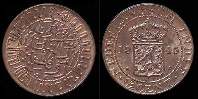Netherlands Indie 1/2 cent 1945- UNC