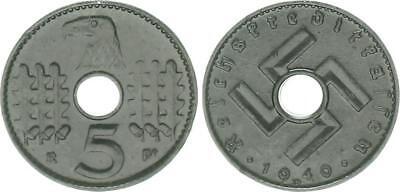 Reichskreditkassen 5 Pfennig J.618 1940 D vorzüglich