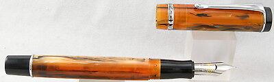 Conklin Duragraph Amber & Chrome Fountain Pen - Fine Nib - NEW!