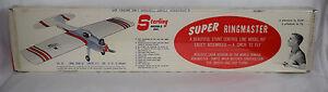 Sterling Super Ringmaster Balsa Wood Airplane Stunt Control Line Model Kit NOS