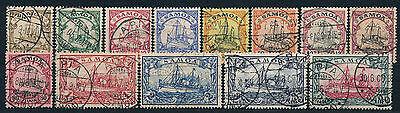 Samoa Kaiseryacht 1900 Michel 7-19 geprüft und Attest (S12813)