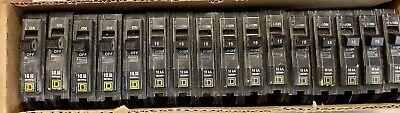 16 15amp Single Pole Square D Qo Breakers