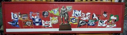 Framed Exclusive 1995 NRL 20-Team Flags Picture